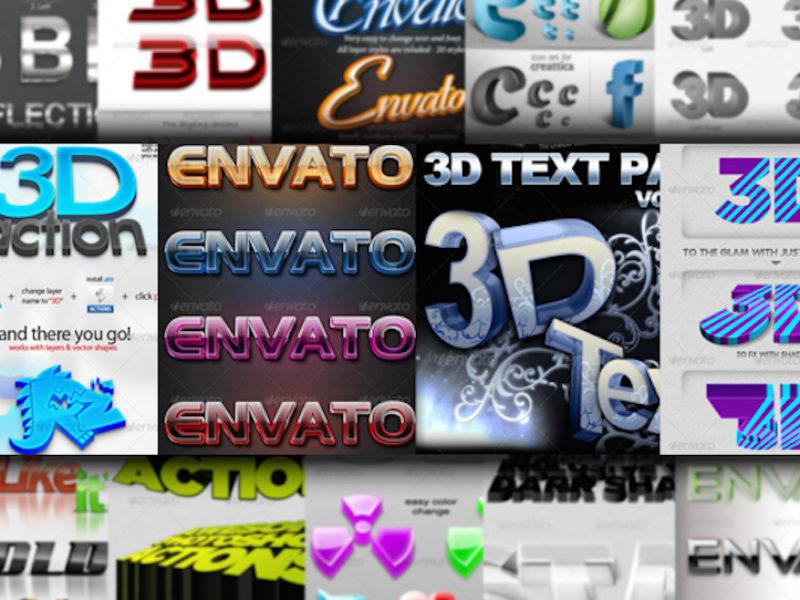 3DTextStylesActions1