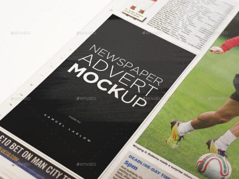 6 Newspaper Advert Mockups2