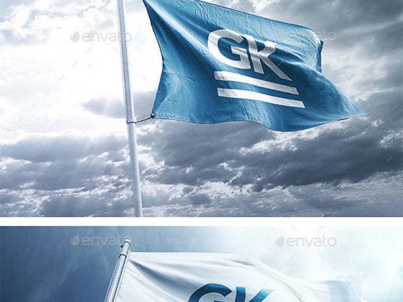 9 Realistic 3D Flag Mock Ups 2