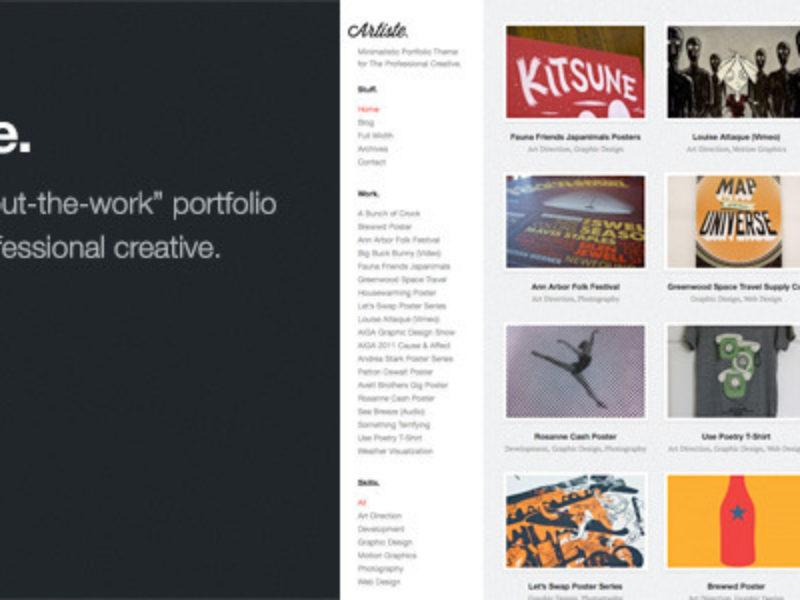 Artiste Professional Portfolio WordPress Theme