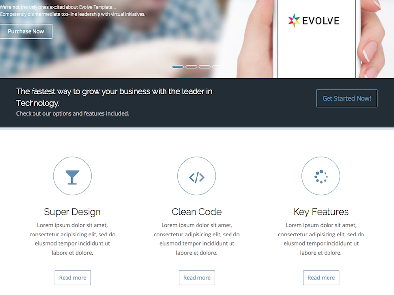 Evolve - MultiPurpose, Creative Drupal Theme2