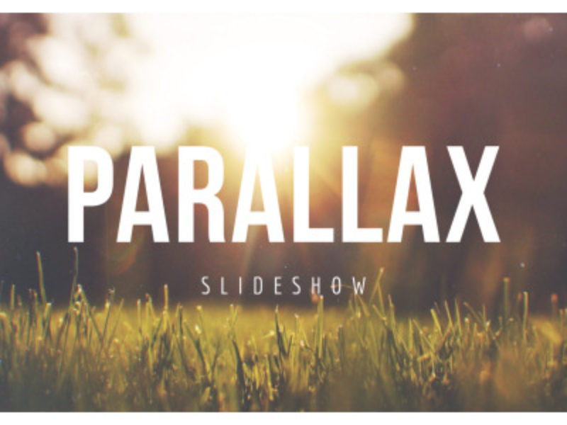 Parallax Scrolling Slideshow After Effects Template