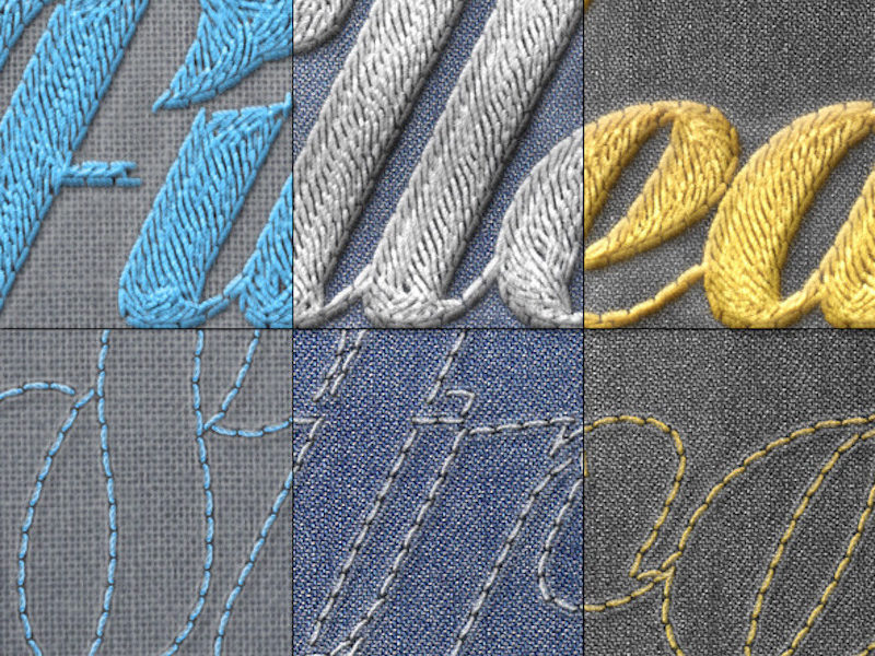 Realistic Embroidery - Photoshop Actions2