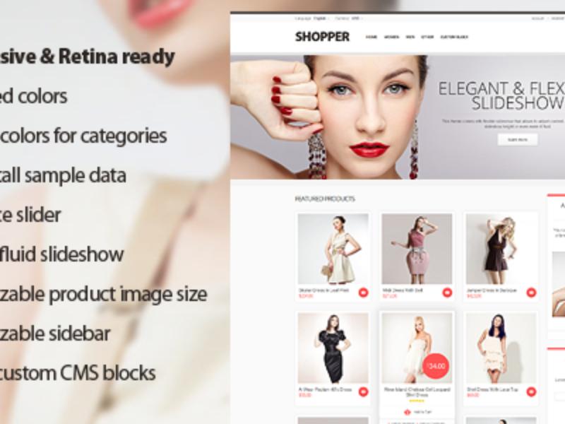 Shopper - Magento Theme Responsive & Retina Ready