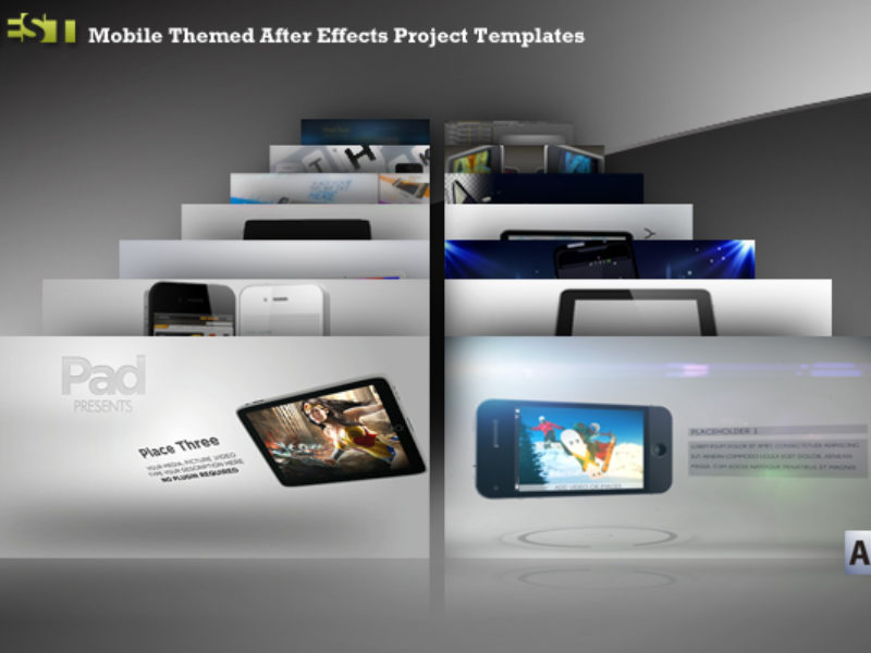 Best Mobile Themed After Effects Project Templates