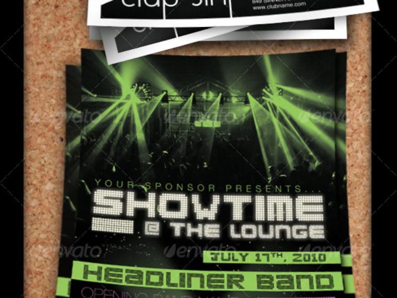 Concert, Club, or Band Flyer Set - By CursiveQ